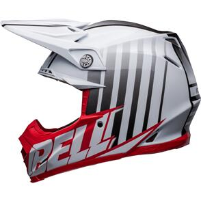 BELL MOTO HELMETS 2022 MOTO-9S FLEX SPRINT WHITE/RED